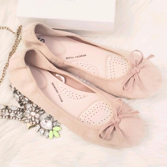 ❤ 4 for $25 ❤ #49 Boat 8.5 Tan Women Ballet Flats